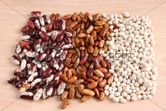 Assortment of various beans