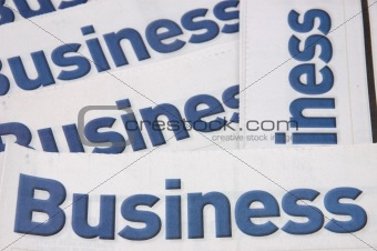 Business heading of newspaper