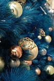 Christmas ornaments on tree