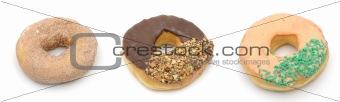 Three donuts