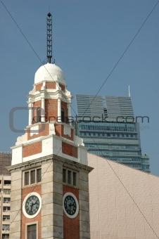 Old clock tower in Hong Kong