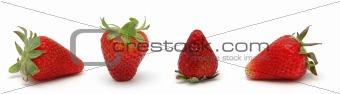 Four fresh strwberries