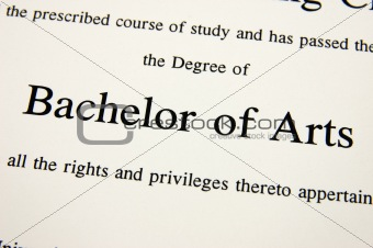 Bachelor of Arts degree