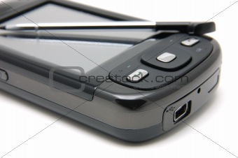 Close up of pda phone