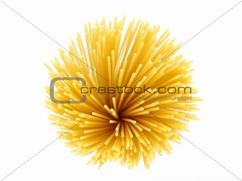 Top view of uncooked spaghetti