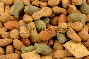 Cat dried food background