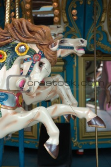 Close up of carousel horse