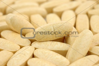 Close up of vitamin pills
