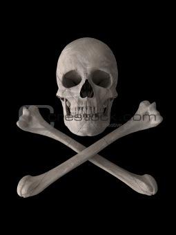 poison or toxic skull symbol