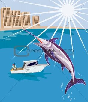 Fisherman angling that big catch