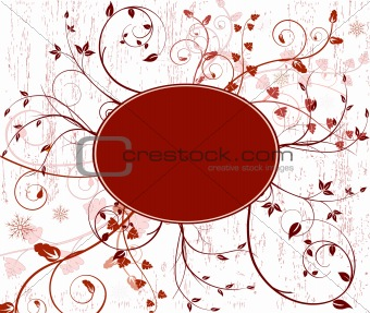 Floral  artistic vector design decor background