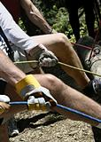 Working Hands On Belay