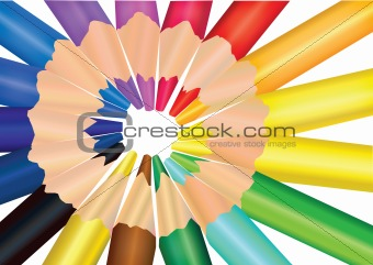 vector image color pencils