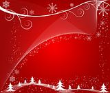 Abstract   winter  background - vector