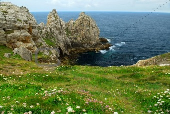 Atlantic coast in Brittany