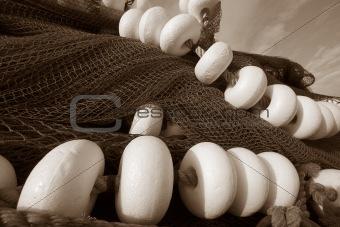 Fishing Nets In B-W