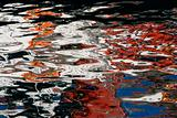 Colorful Reflection Makes Water Abstract