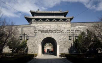 City Wall Gate Qufu China Entrance to Confucius Temple