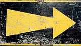Grunge arrow