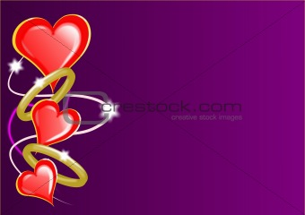 Valentine Day Hearts and Rings