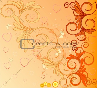 Romantic background vector illustration