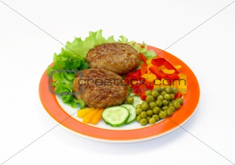 Cutlets & vegetables