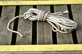 Mooring rope on the pier