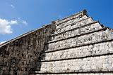 Ancient Mayan Pyramid Wall at Chichen Itza