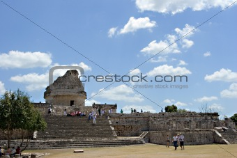 Ancient observatory in Chichen Itza.