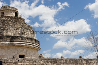 Ancient observatory in Chichen Itza. Fragment.