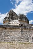 Ancient observatory in Chichen Itza. Wall