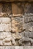 Mayan Relief. Chichen Itza. Vertical.