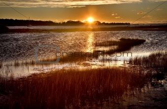 Padnaram Harbor Massachusetts at Sunrise