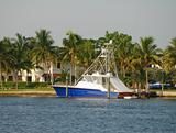 Motorboat in private dock