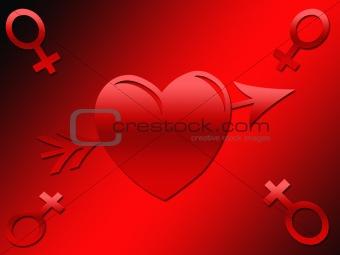 A female symbol Valentine Image