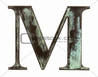 Metallic letter M