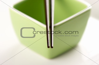 Chopsticks &amp; Green Bowl