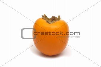 fresh persimmon on white background
