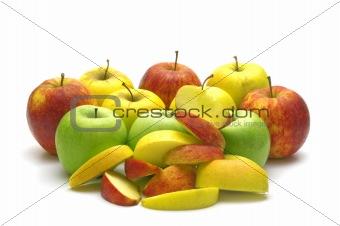 fresh apples on white background