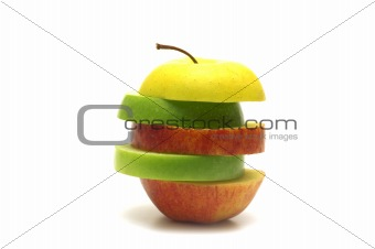 abstract apple on white background