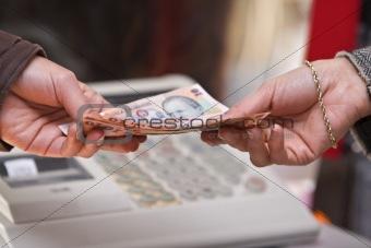 Cash payment moment