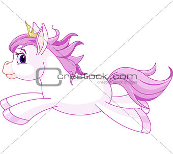 Cute horse princess running