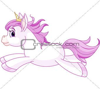 Cute horse princess running