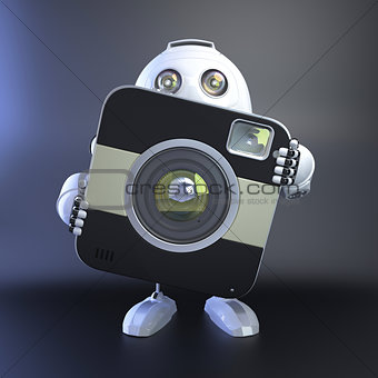 Android Robot with compact digital camera