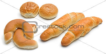 Assorted baked food