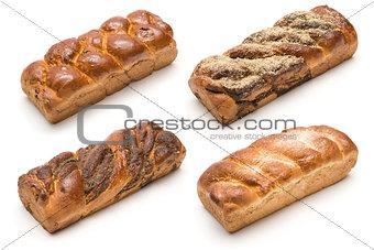 Four kinds of milk loaf