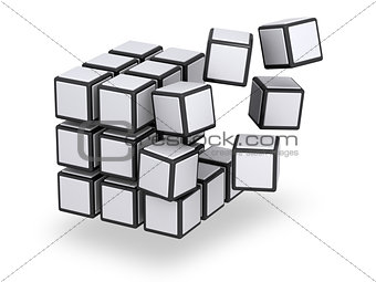 Cube being assembled or disassembled