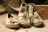 Dusty old shoes