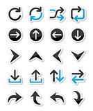 Arrow vector icon sets isolated on white
