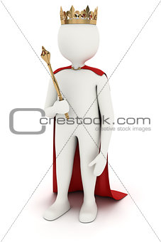 3d man with crown and mace